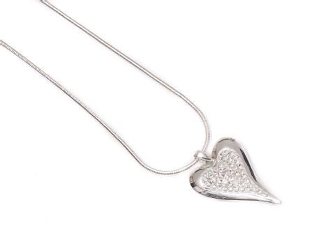 Bilde av 10652 Kort smykke hjerte med stener