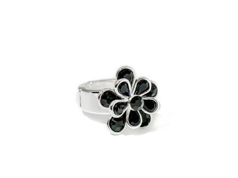 Bilde av 50106 Ring med sorte stener